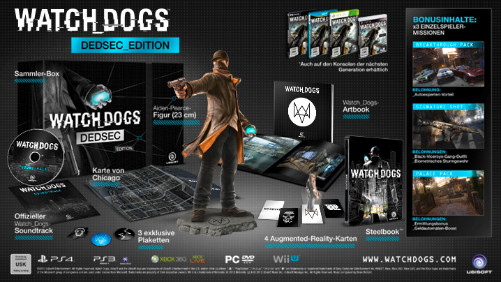 nat games Watch Dogs Watch_Dogs Dedsec Edition Dedsec_Edition Special Collectors