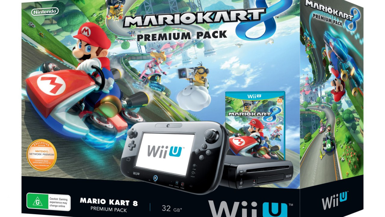 nintendo wiiu paket mit mario kart 8 f r 249 nat games. Black Bedroom Furniture Sets. Home Design Ideas