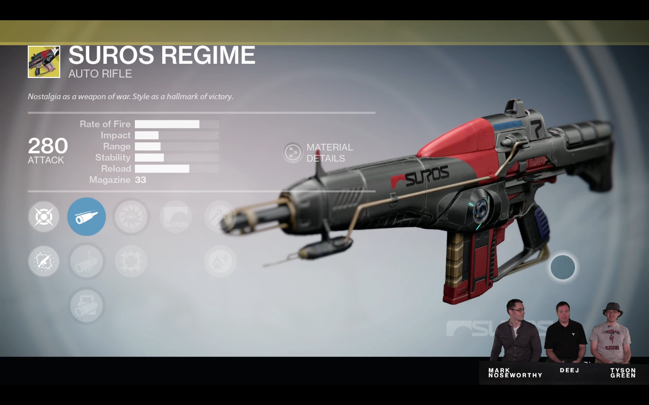 Das ist die verbesserte Suros Regime Version in The Taken King.