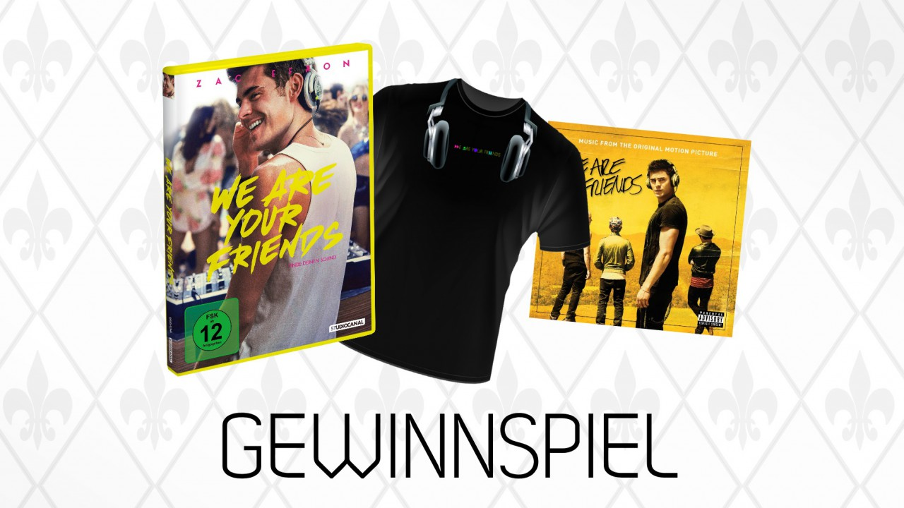 Gewinnspiel – Wir verlosen 1x We Are Your Friends Fanpaket (DVD, Soundtrack, T-Shirt) (Beendet)