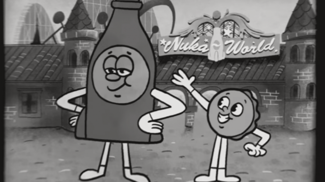 Fallout 4 – Lernt Bottle und Cappy im Nuka-World Trailer kennen