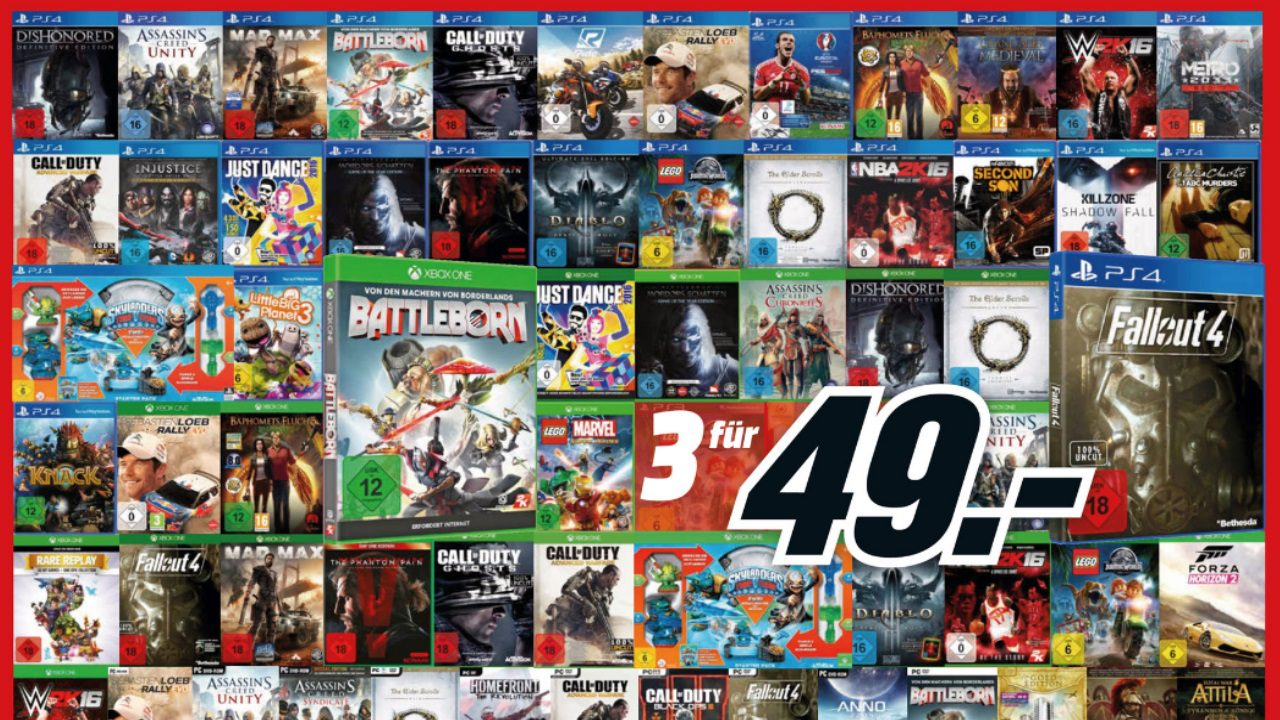Media Markt – 3 Games für 49 Euro