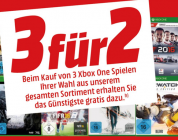 Media Markt – 3 für 2 Aktion auf Xbox One Games
