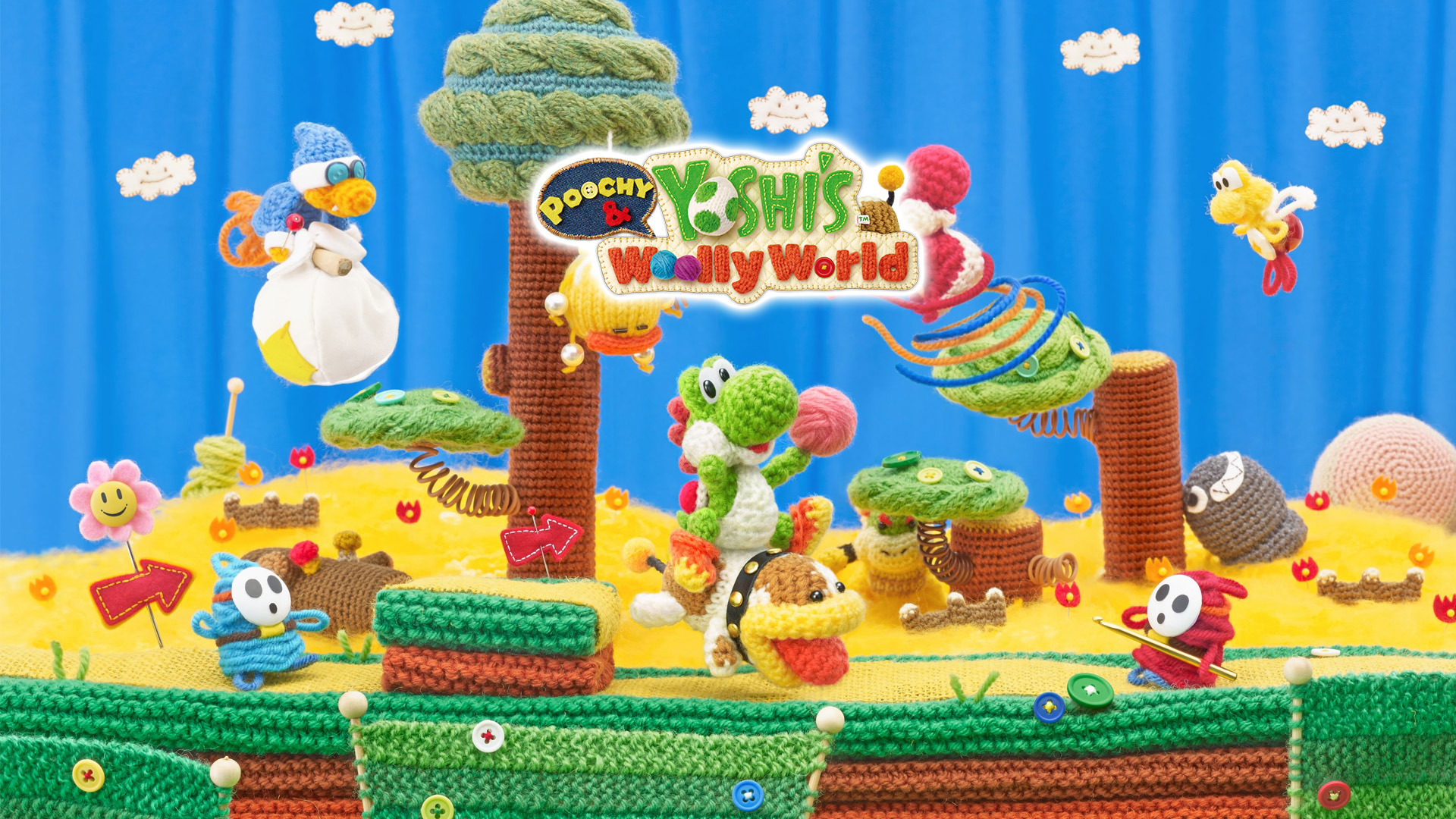 Poochy-Yoshi-Woolly-World-wallpaper-logo-nat-games