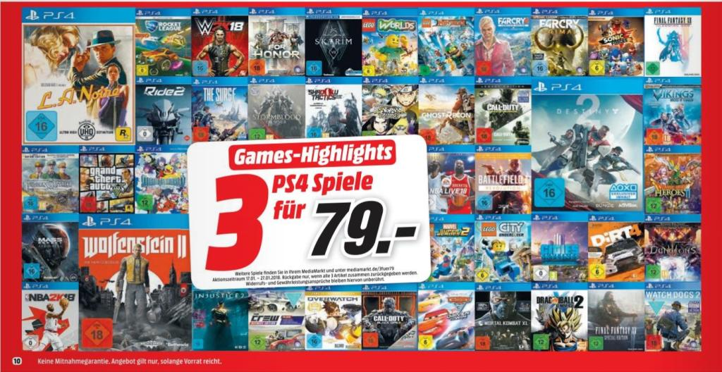 media markt neue 3 f r 49 aktion f r ps4 spiele nat games. Black Bedroom Furniture Sets. Home Design Ideas