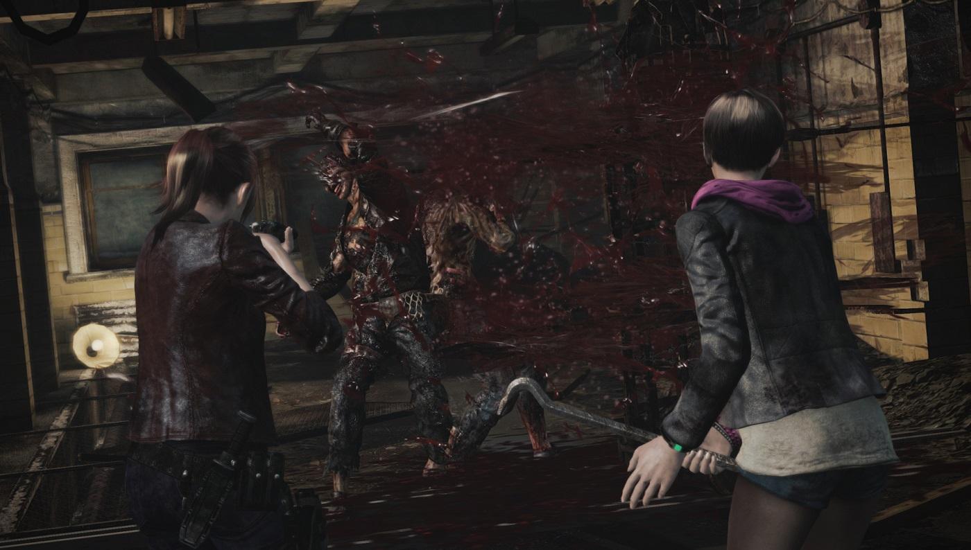 Claire und Moira versuchen aus dem Komplex zu entkommen.