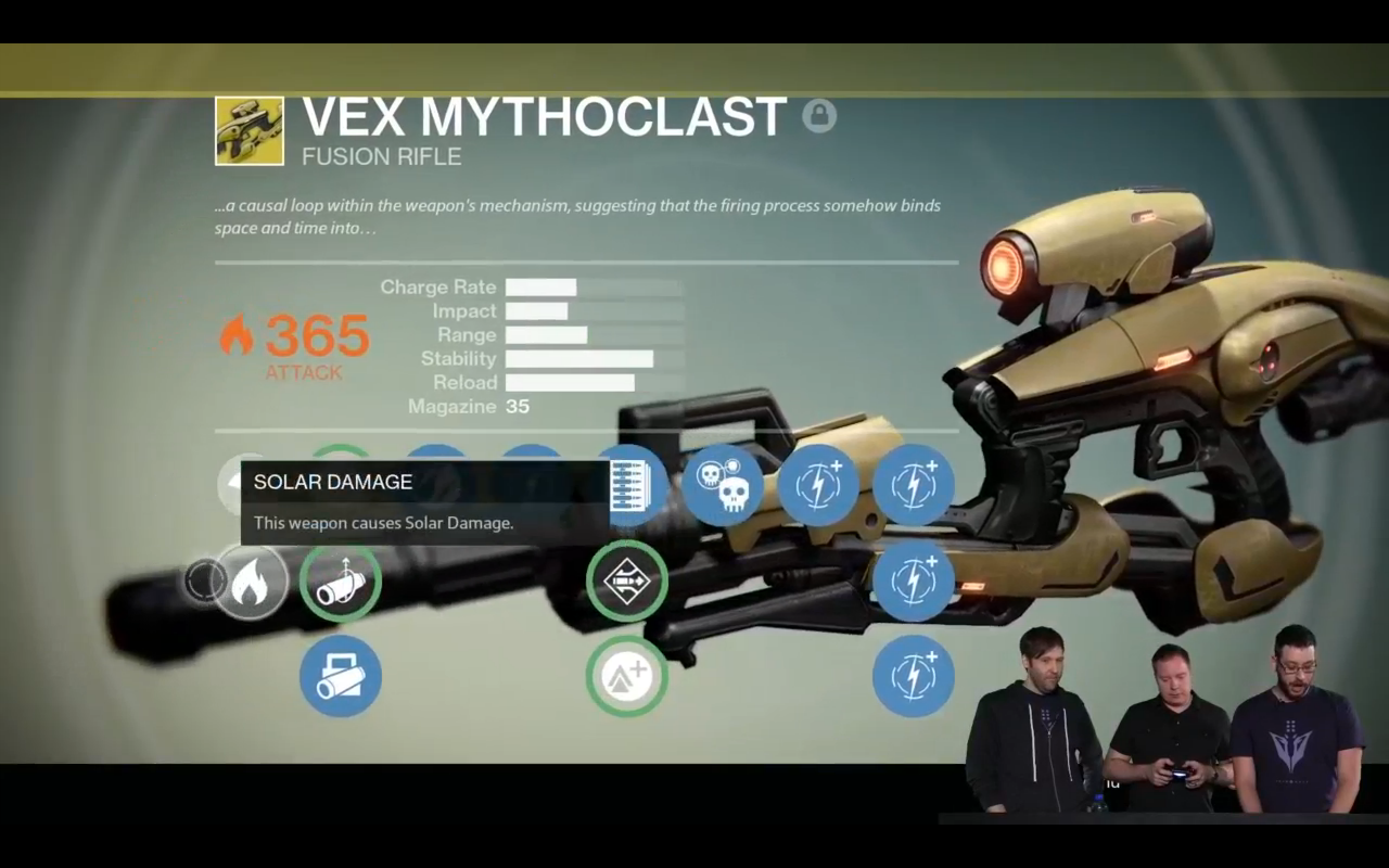 Frühere Waffen wie Vex Mythoclast können endlich aufgewertet werden.