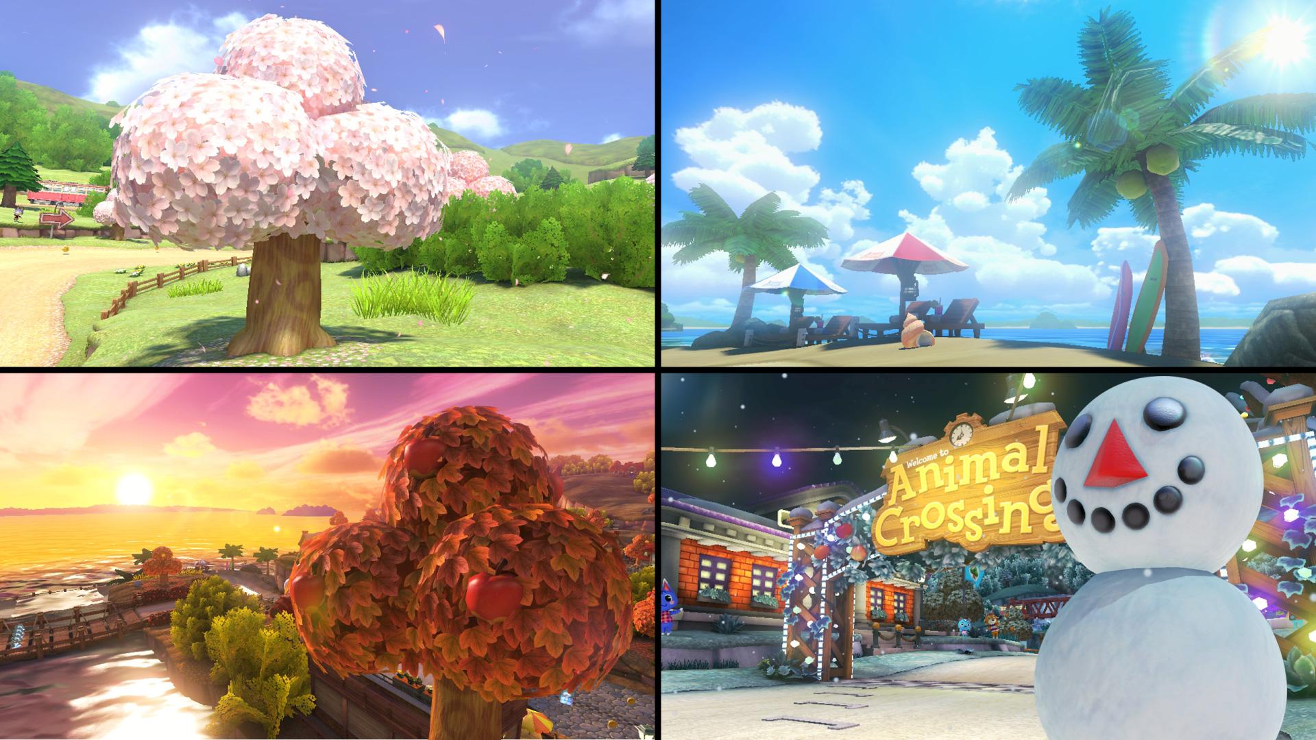 Animal Crossing-Dorf in Mario Kart 8.