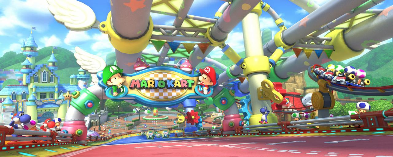 Baby-Park in Mario Kart 8.