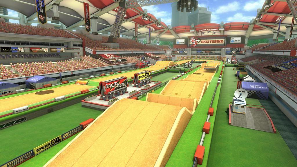 Excitebike in Mario Kart 8.