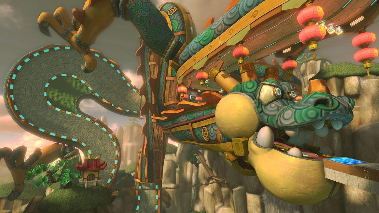 Große Drachenmauer in Mario Kart 8.