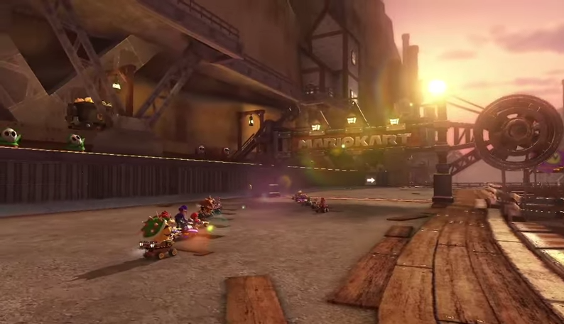 Warios Goldmine in Mario Kart 8.