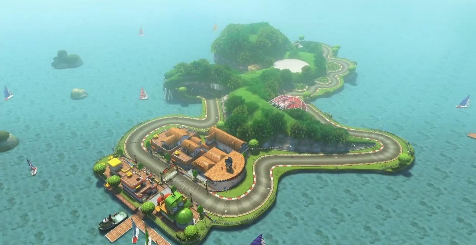 Yoshi Circuit in Mario Kart 8.