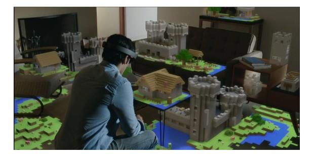 Virtuelle Welt durch die HoloLens.