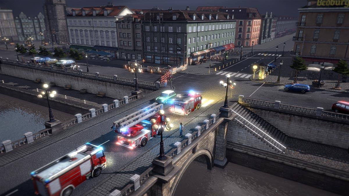 Auch die Feuerwehr ist zur Stelle.