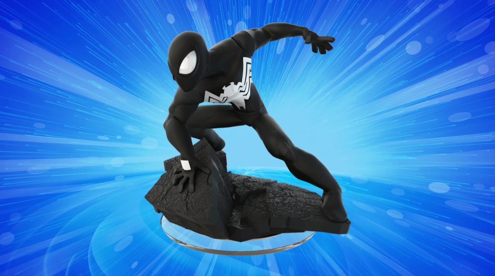 Die schwarze Spidey Figur gibt es exklusiv nur im Vita Starter Pack.