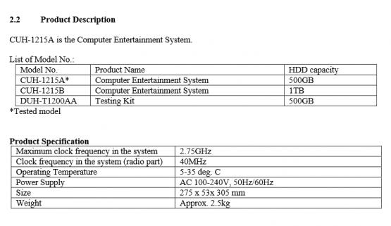 Hier sehen wir die Spezifikationen der neuen Modelle.
