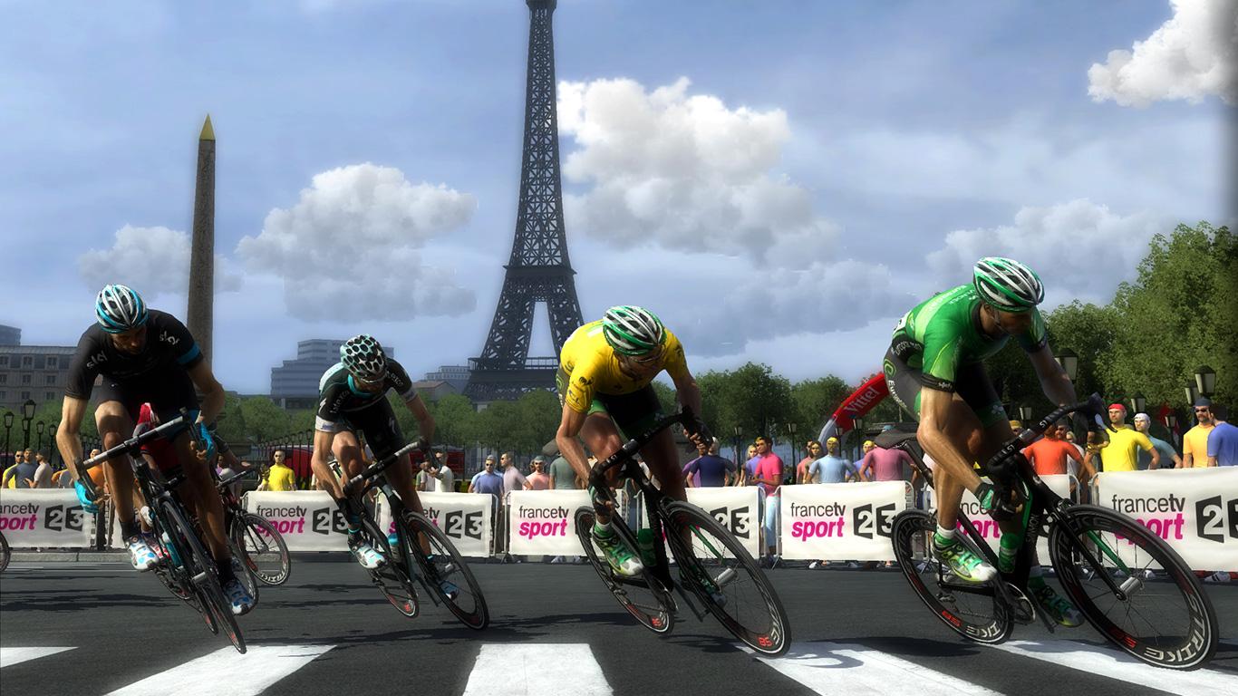 Wer am Ende der Tour das gelbe Trikot trägt, gewinnt das Event.