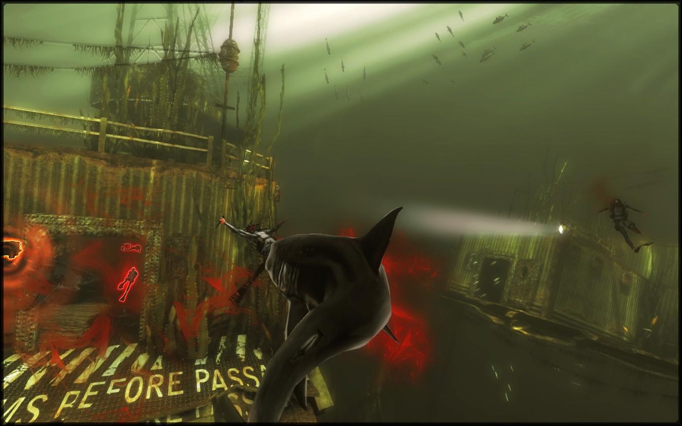 Die Haie werden aus der Third-Person-Sicht gespielt.