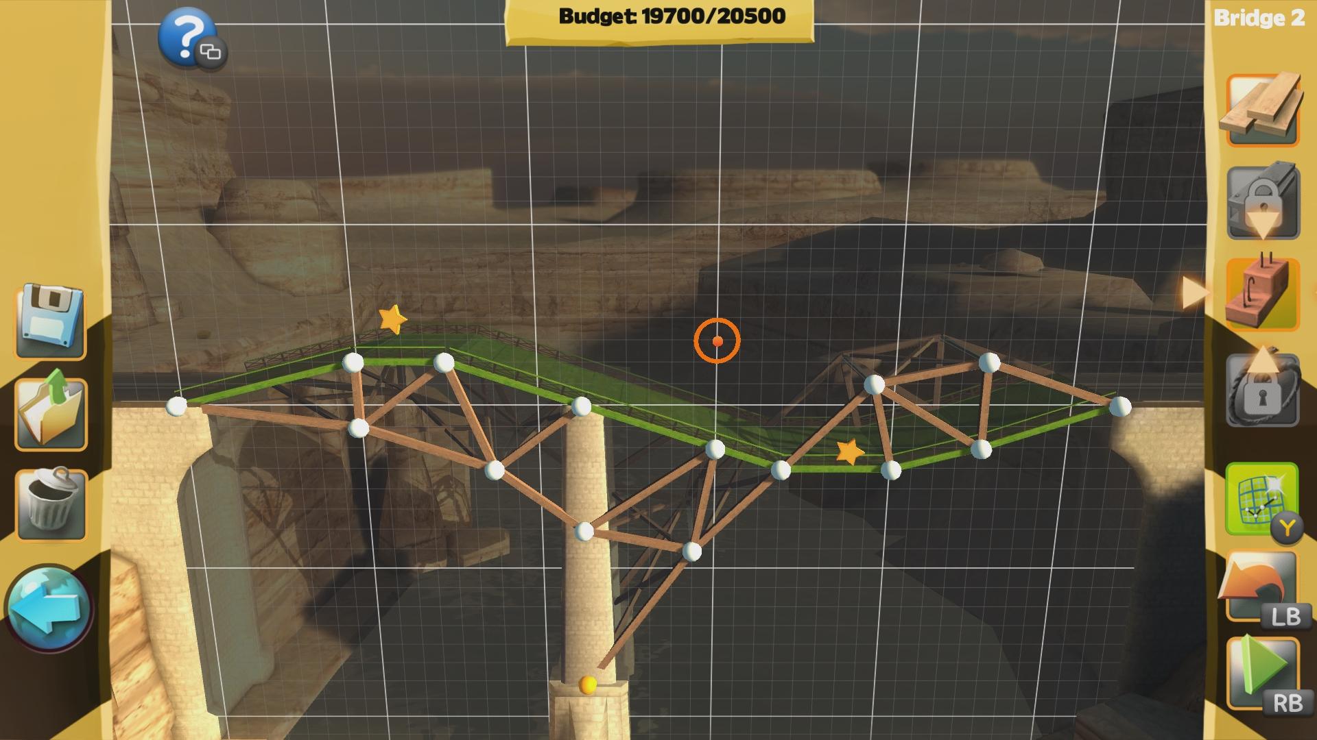 Brücken bauen ist unser Ziel des Spieles.