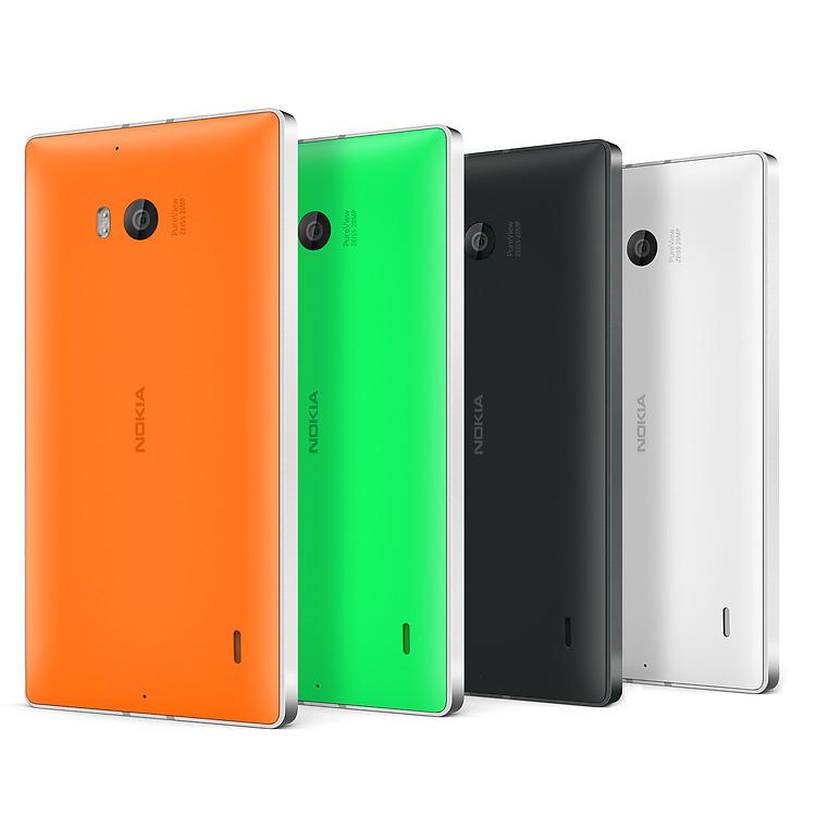 Die verschiedenen verfügbaren Farben des Lumia 930.