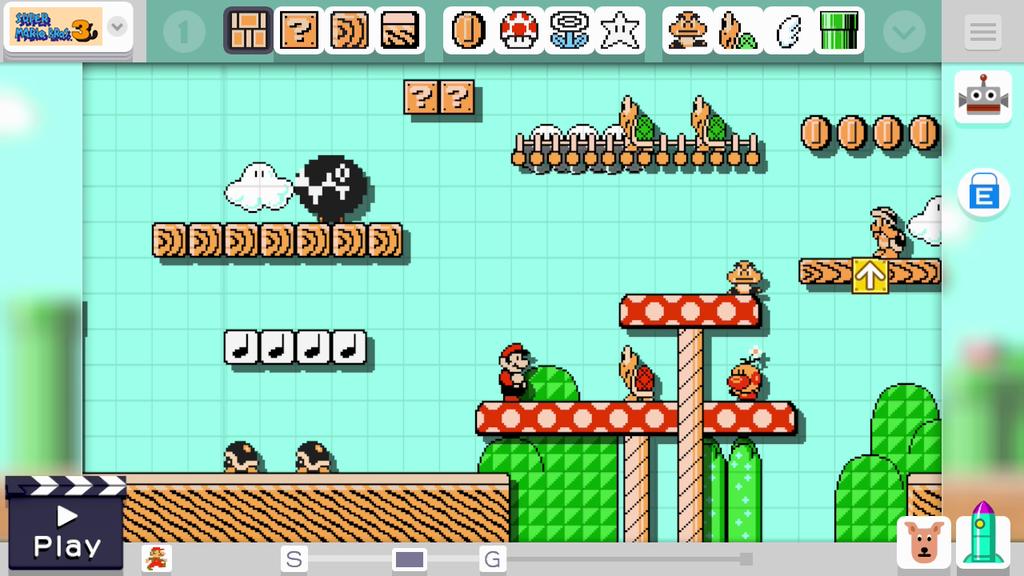 Auf dem Gamepad kann man die Level individuell gestalten und auch spielen.