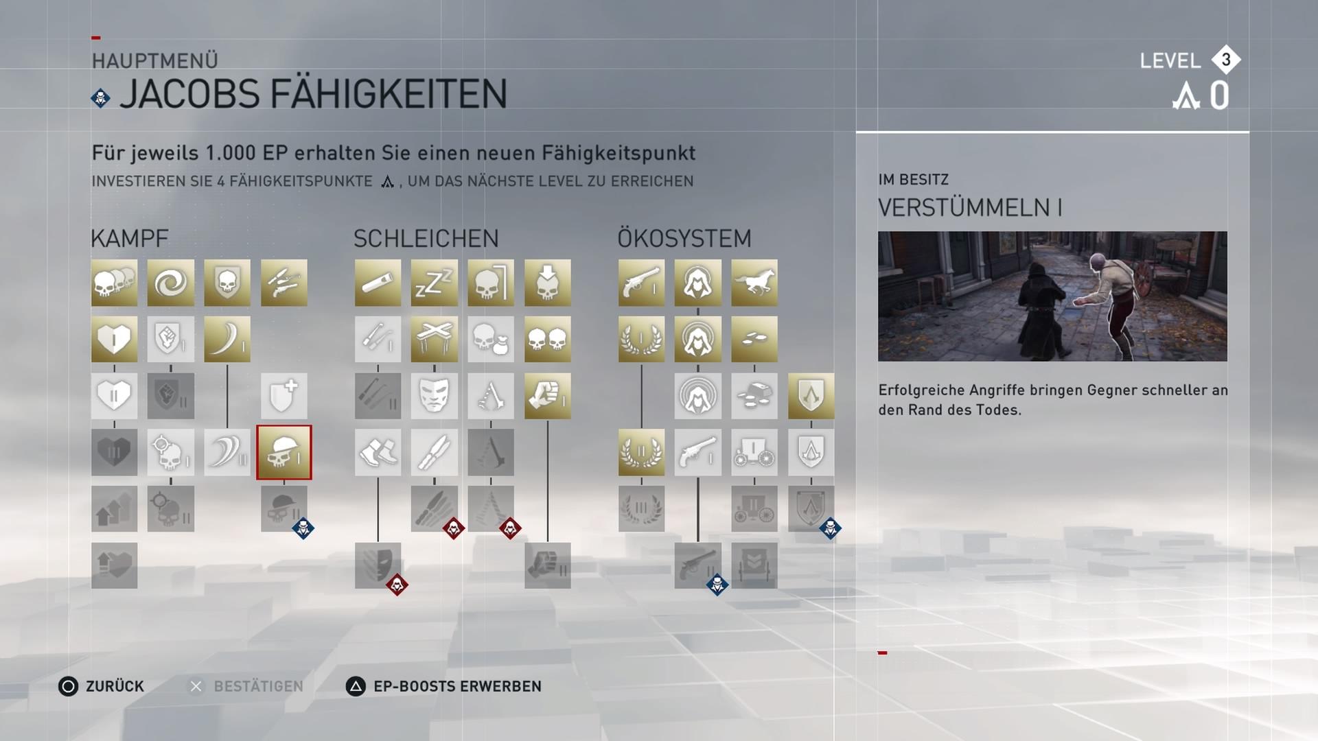 Jeder Charakter bekommt im Laufe des Spieles immer neue Fähigkeiten.