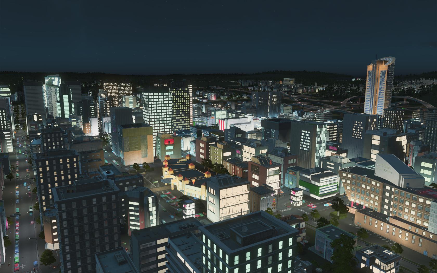 Unsere Metropole bei Nacht.
