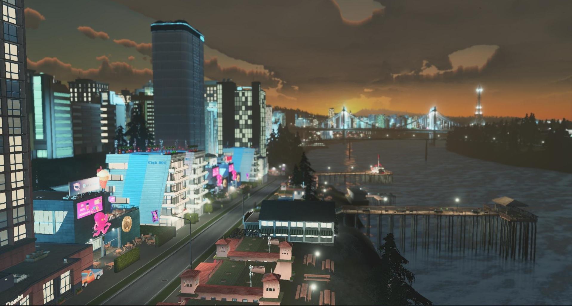 Dank des Tag- und Nachtwechsels ändert sich auch das Leben in der Stadt bei Nacht.