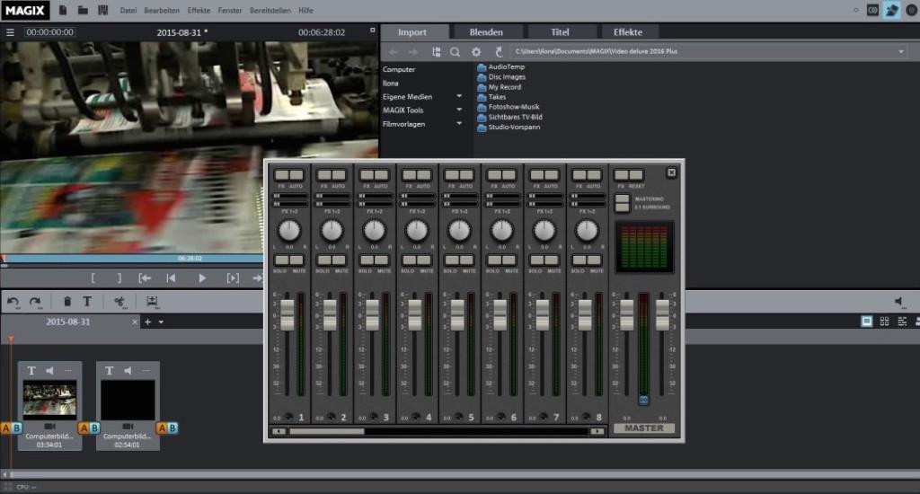Die Audioeinstellungen wurden besser in das Programm integriert, sodass die Bearbeitung noch einfacher wird.