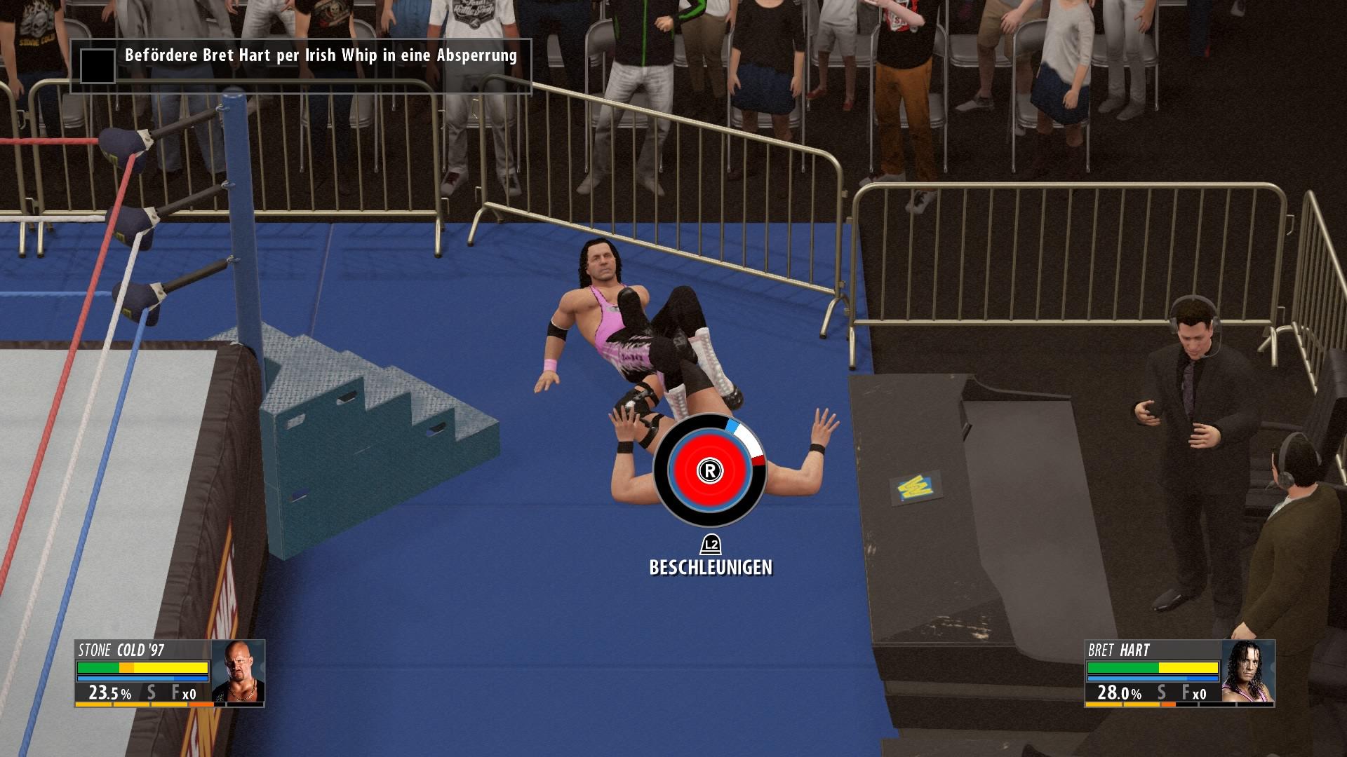 Wird der Kreis rot bzw. blau gefüllt hat man gewonnen bzw. verloren.