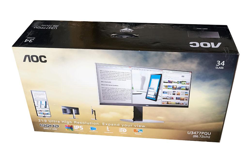 Die Verpackung gibt euch die Eckdaten des Monitors.