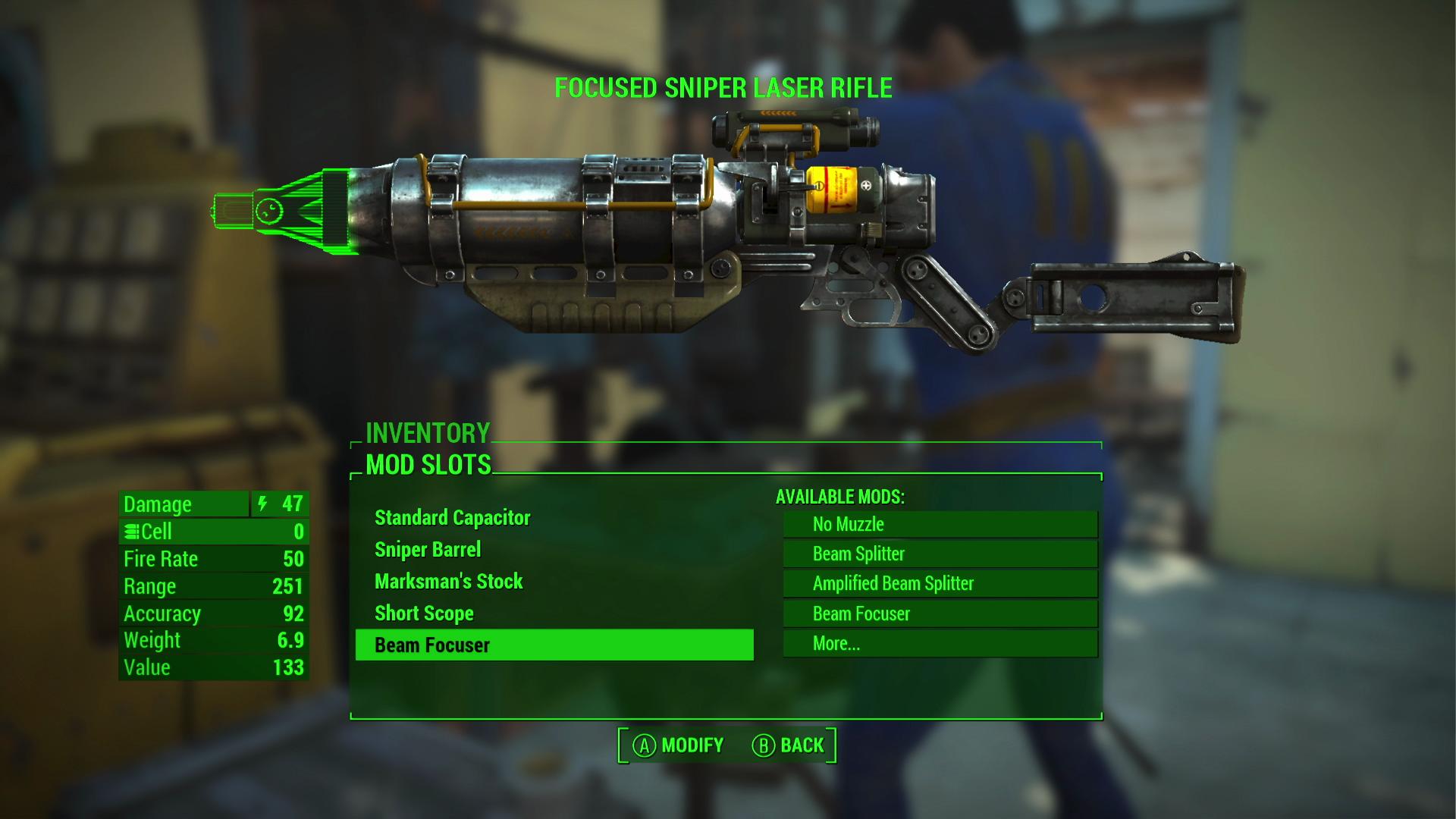 Die Mod Funktion für Waffen und Rüstungen ist extrem umfangreich geworden.