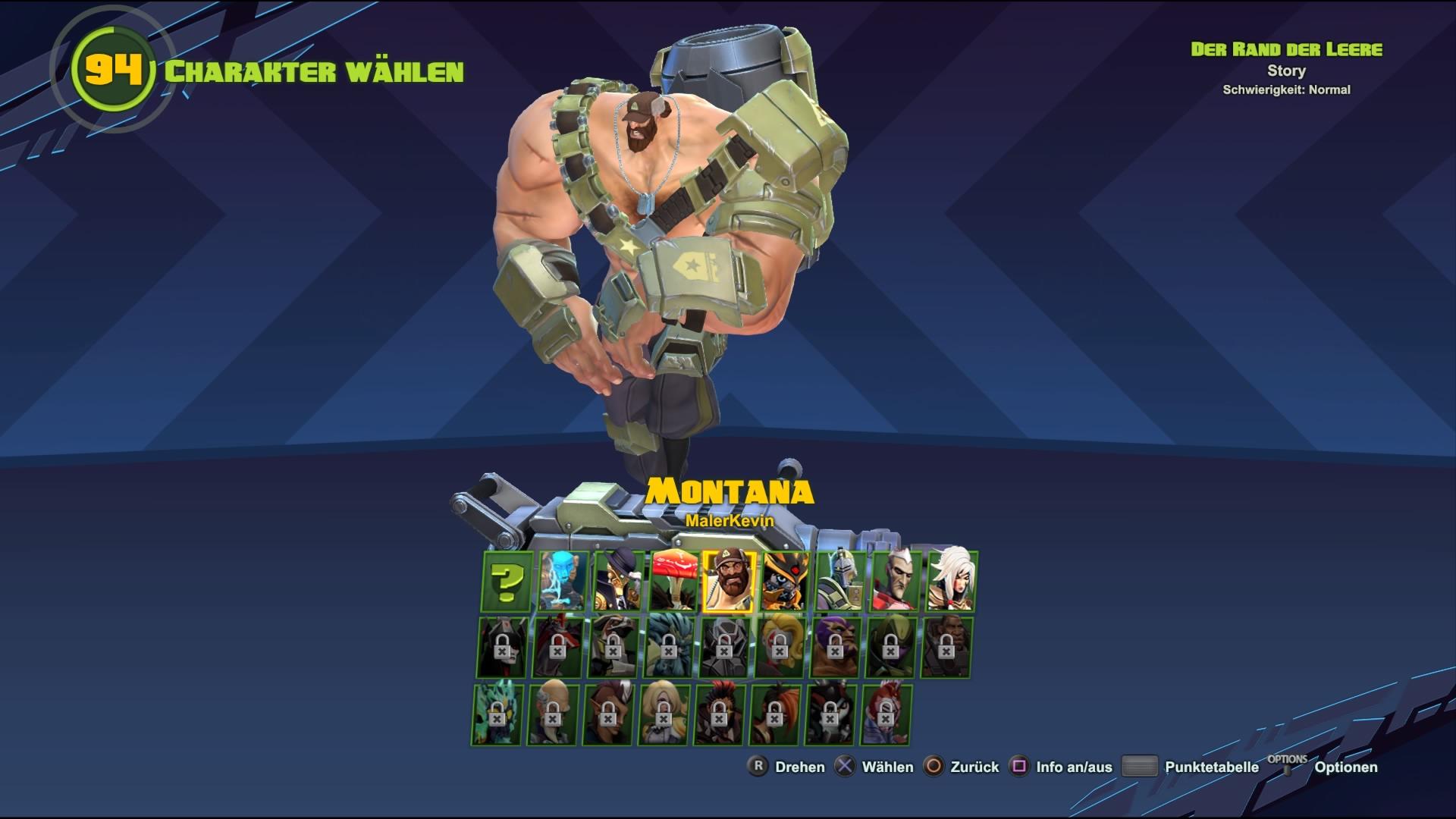 25 Helden stehen zur Auswahl. Wobei man ein Großteil erst frei schalten muss.