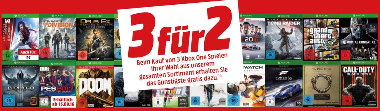 media markt 3 f r 2 aktion auf xbox one games nat games. Black Bedroom Furniture Sets. Home Design Ideas