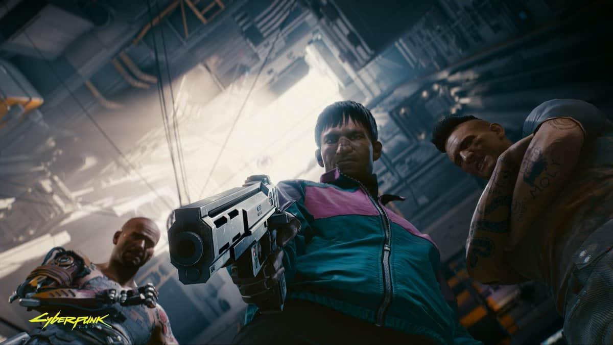 Alle Pistolen auf dich gerichtet in Cyberpunk 2077