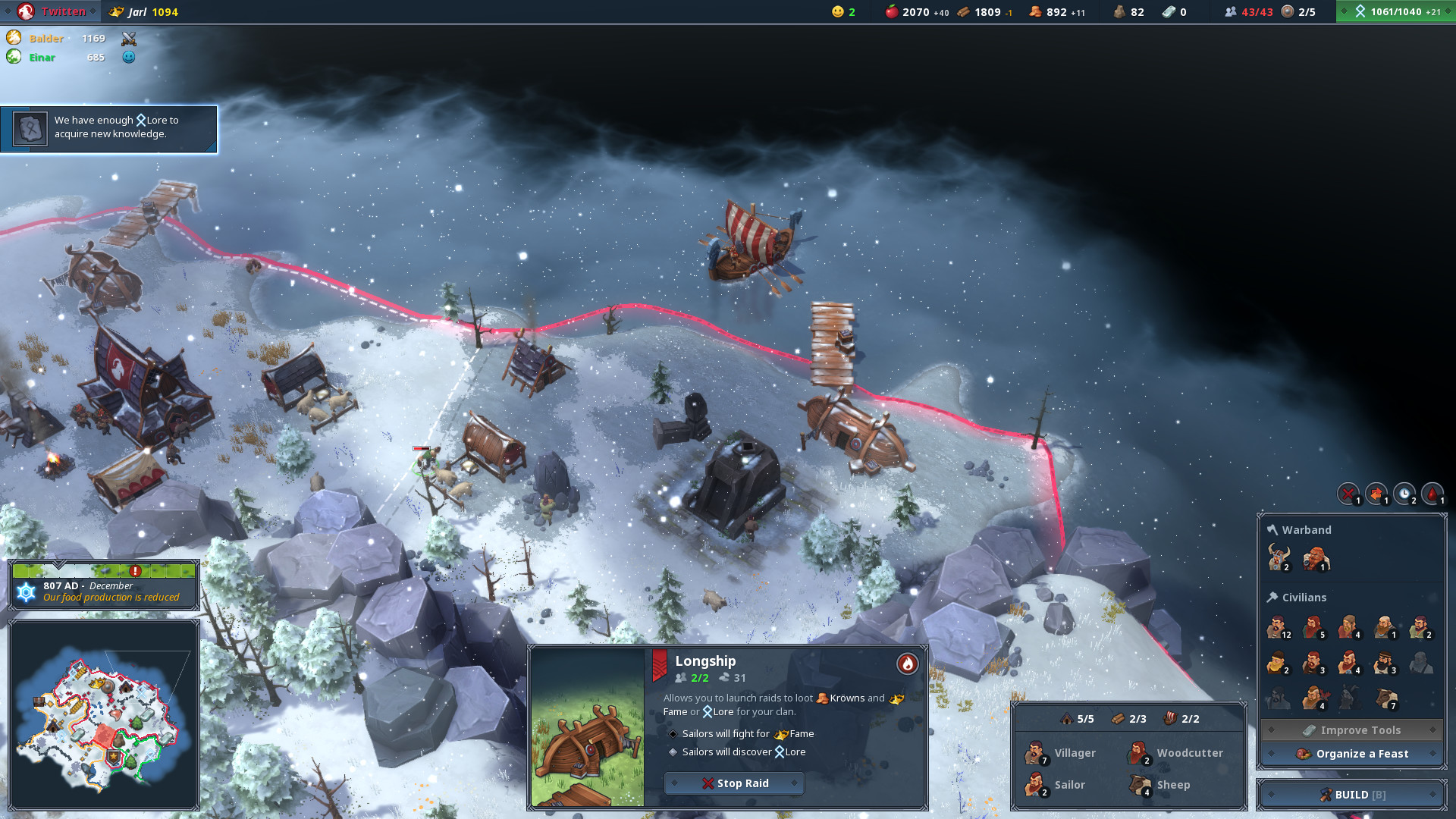 Winter in Northgard