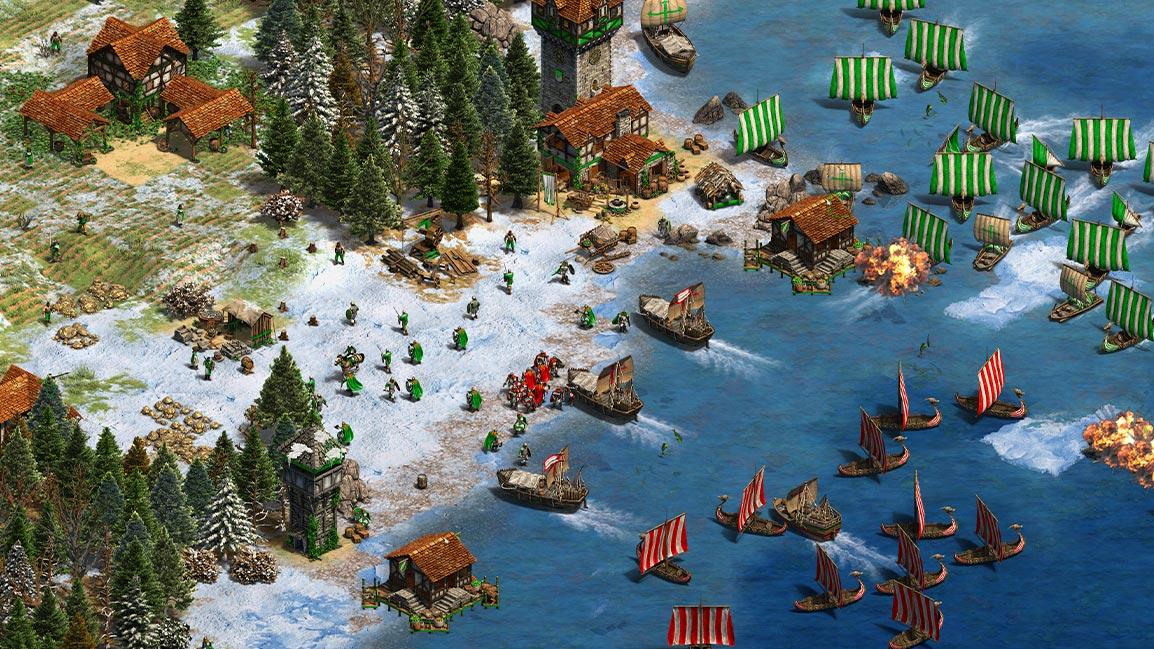 Age of Empires II, Landung an einer Küste