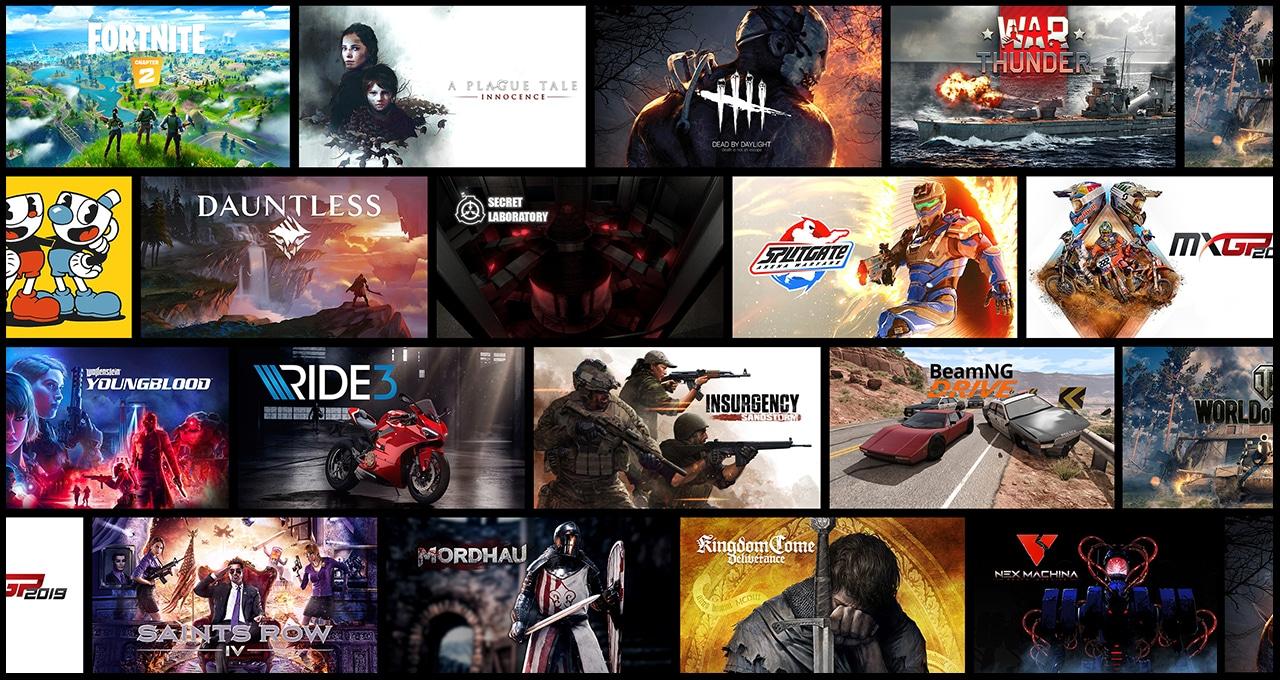 Spiele-Bibliothek von GeForce Now