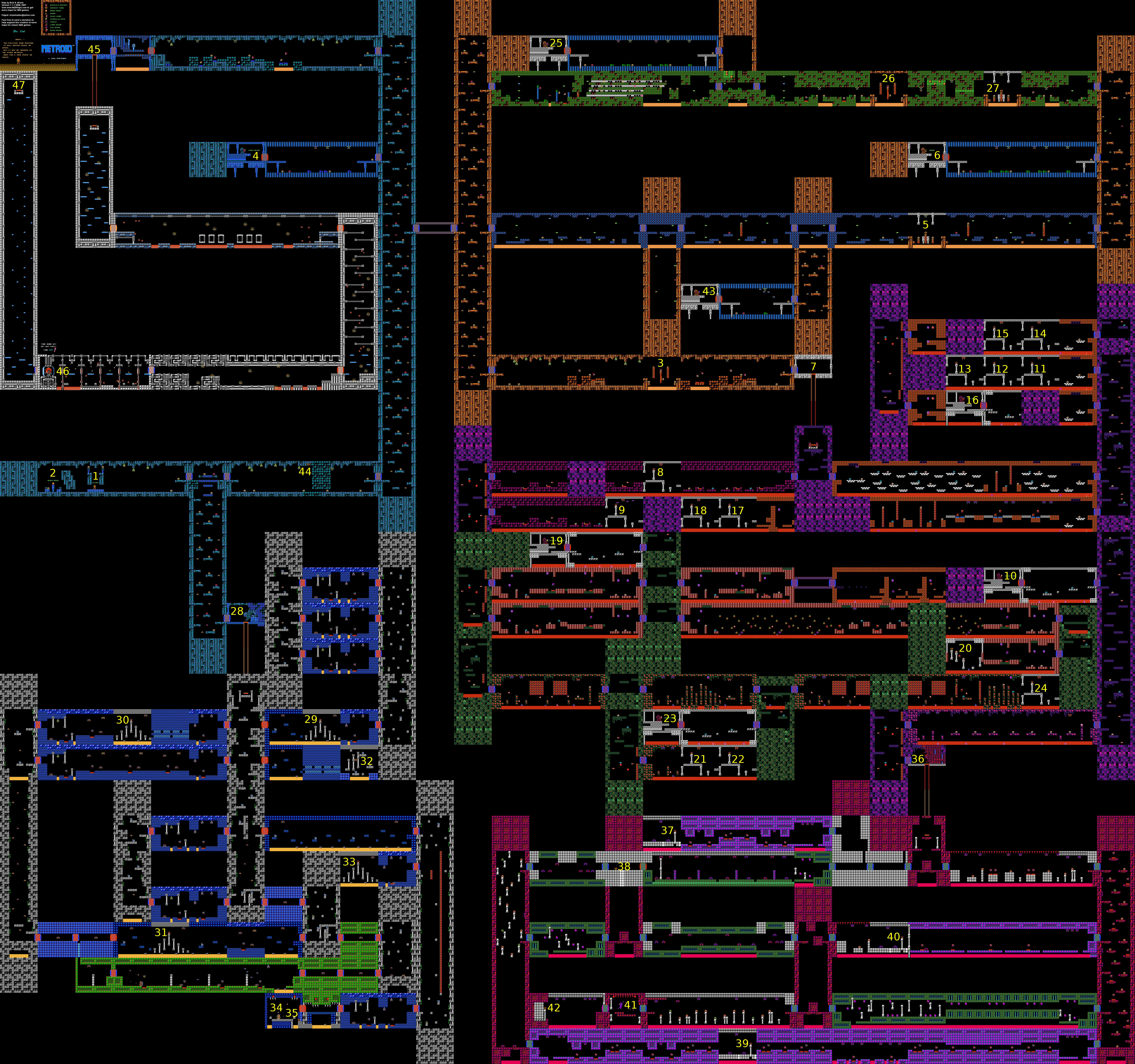 Die Karte von Metroid