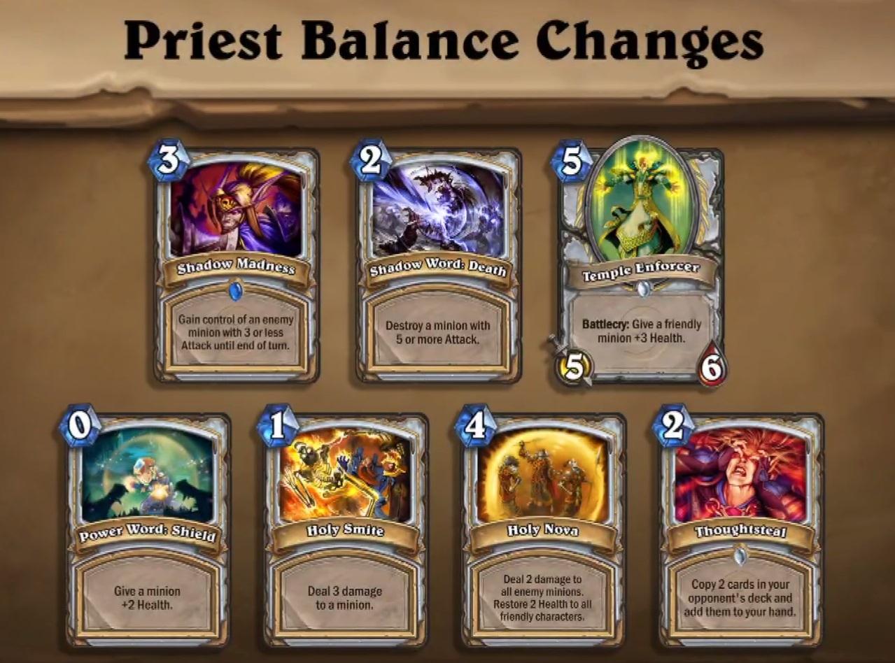 Balance Update Priester
