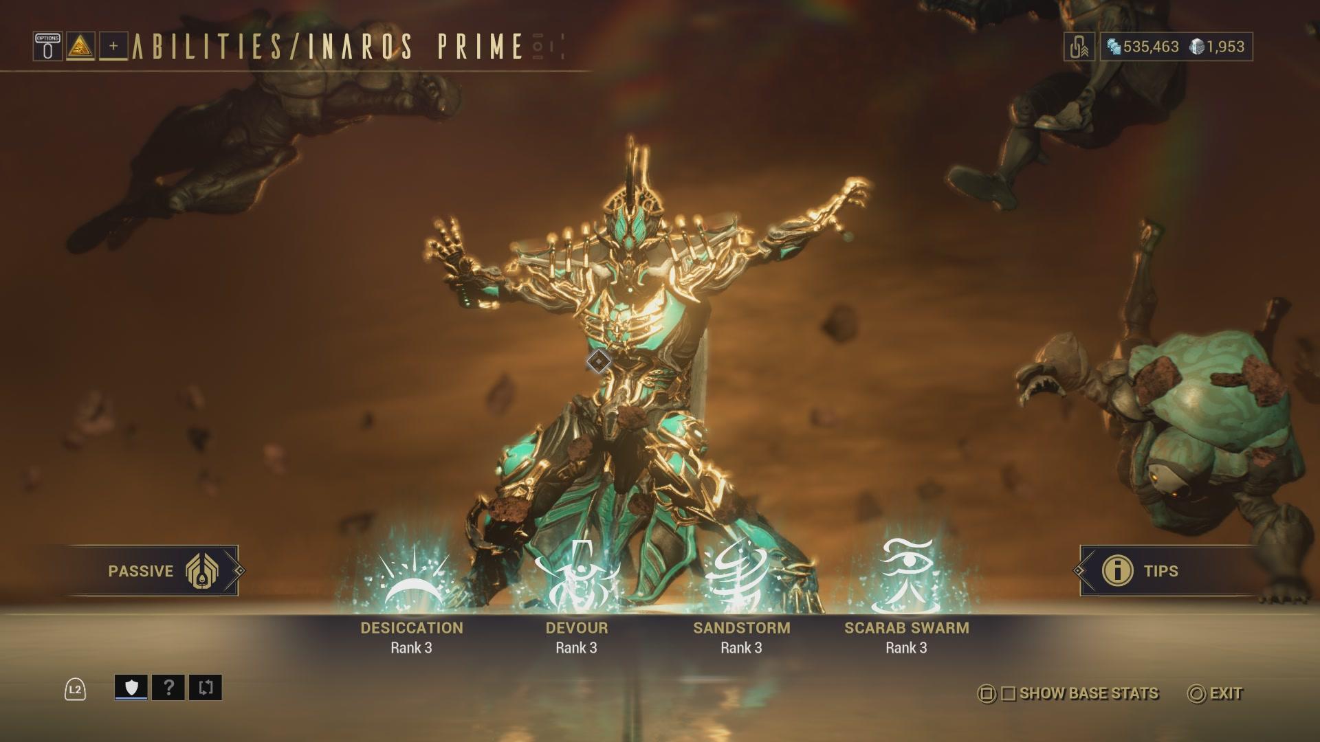 Warframe Inaros Prime Access