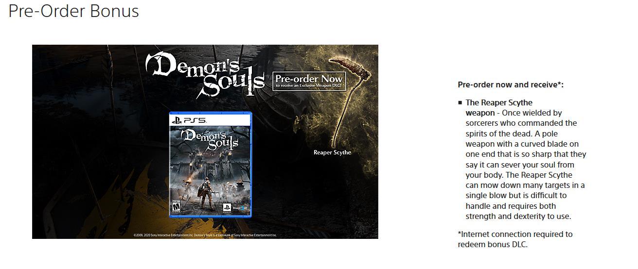Demon's Souls Preorder
