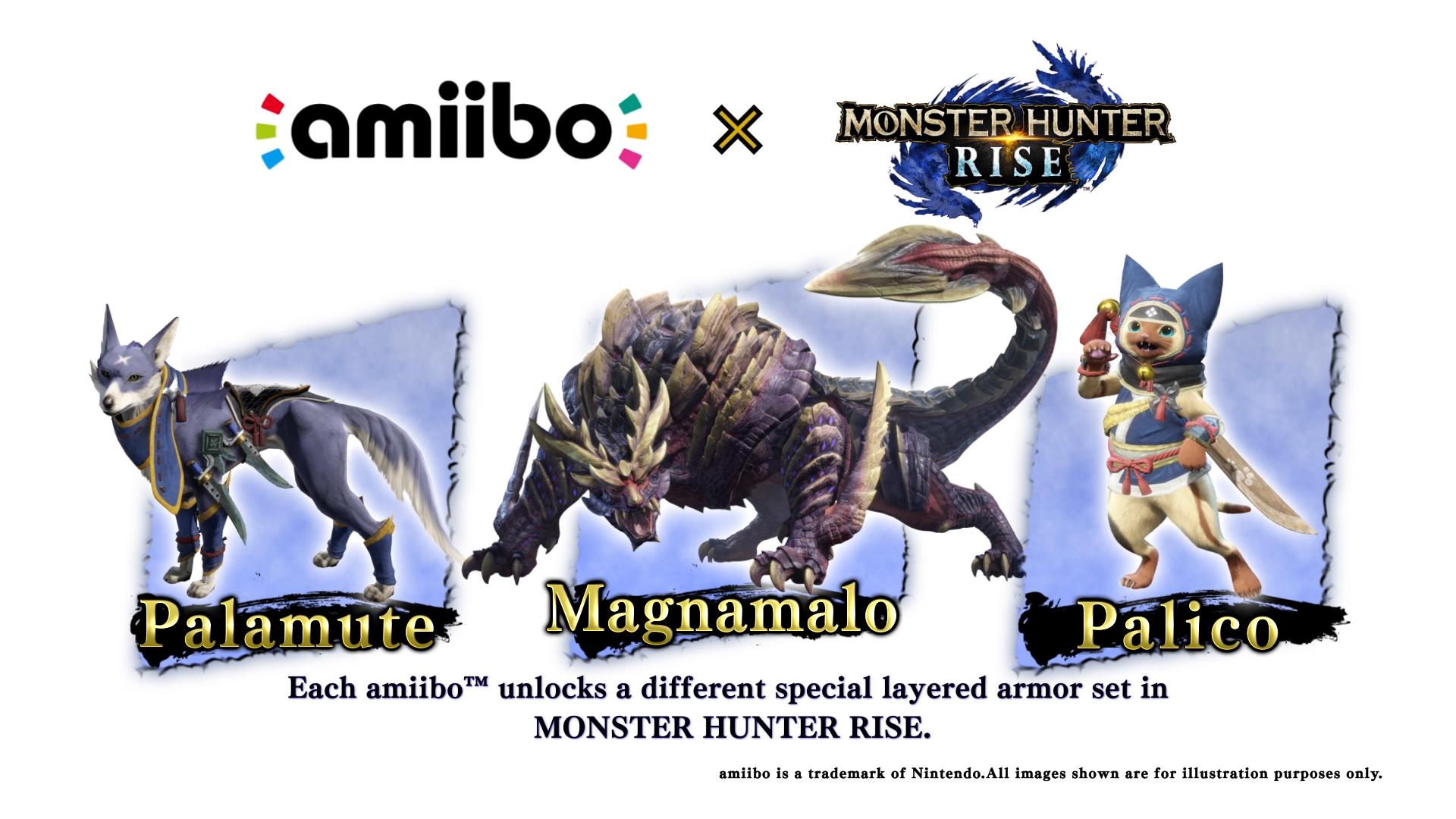 Monster Hunter Rise Amiibos