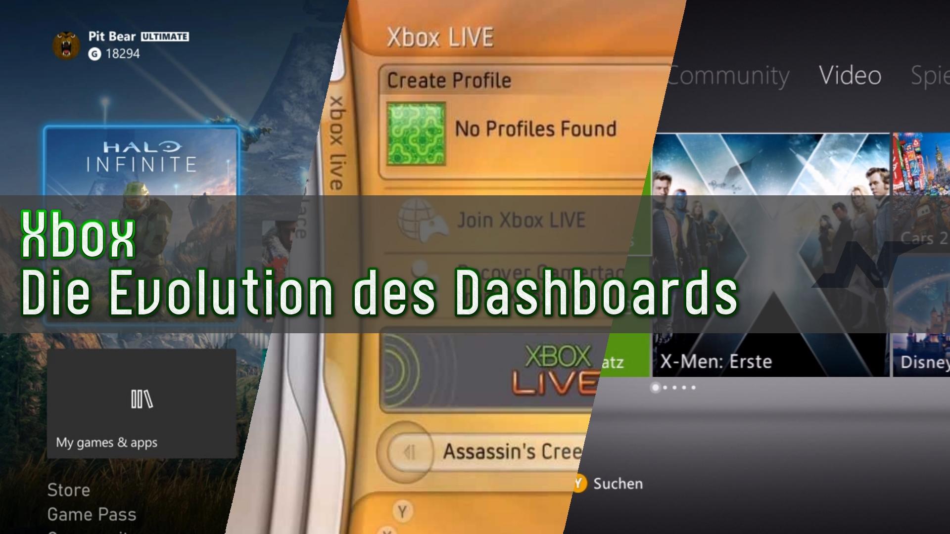 Xbox - Die Evolution des Dashboards